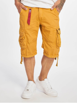 Alpha Industries Pantalón cortos Jet  amarillo