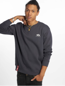 Alpha Industries Pullover Basic Small Logo blue
