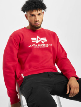 Alpha Industries Pullover Basic  rot