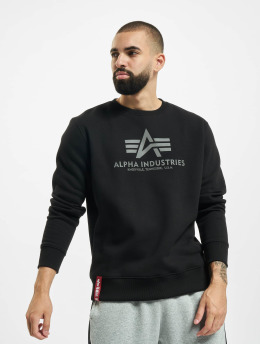 Alpha Industries Pullover Basic Reflective Print schwarz