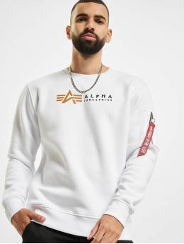 Alpha Industries Pullover Alpha Label weiß