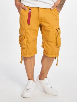 Alpha Industries shorts Jet  geel