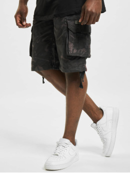 Alpha Industries Shorts Jet Camo schwarz