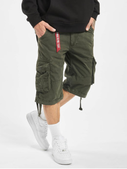 Alpha Industries Shortsit Jet harmaa