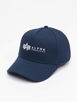 Alpha Industries snapback cap Alpha blauw