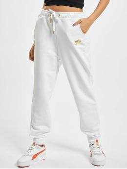 Alpha Industries Spodnie do joggingu Basic Foil Print bialy