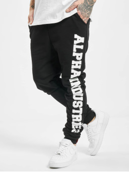 Alpha Industries Spodnie do joggingu Big Letters czarny