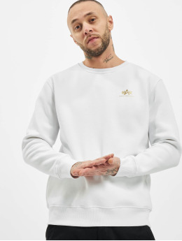 Alpha Industries Sweat & Pull Basic Small Logo Foil Print blanc