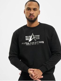 Alpha Industries Sweat & Pull Basic Foil Print  noir