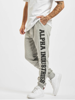 Alpha Industries Sweat Pant Big Letters  grey