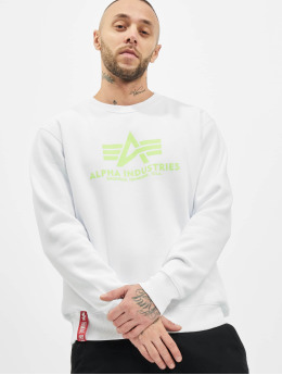 Alpha Industries Swetry Basic Neon Print bialy