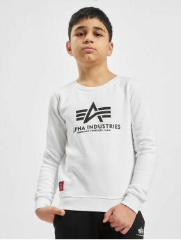 Alpha Industries Swetry Basic Sweater bialy