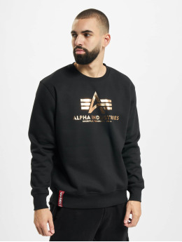 Alpha Industries Swetry Basic Foil Print czarny