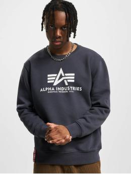 Alpha Industries Swetry Basic  niebieski