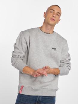 Alpha Industries Swetry Basic Small Logo szary