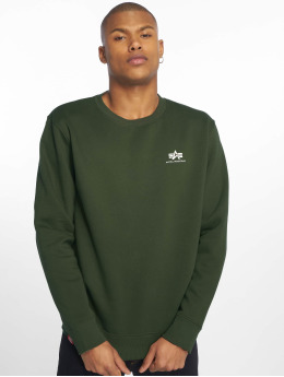 Alpha Industries Swetry Basic Small Logo zielony