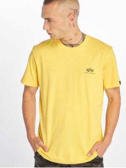 Alpha Industries T-paidat Basic Small Logo keltainen