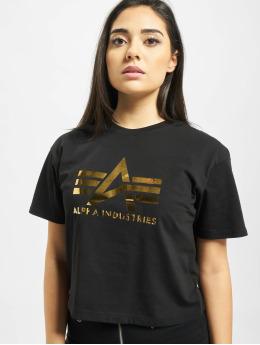 Alpha Industries T-paidat Big A T Wmn musta