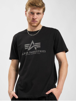 Alpha Industries T-Shirt Basic Reflective Prin black
