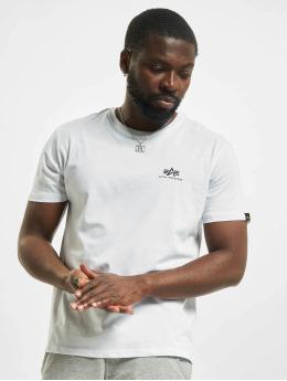 Alpha Industries T-Shirt Basic Small Logo Rainbow Ref. blanc