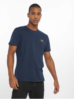 Alpha Industries t-shirt Basic Small Logo blauw