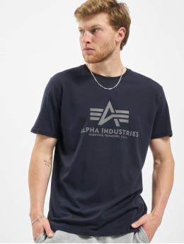Alpha Industries T-Shirt Basic Reflective Print bleu