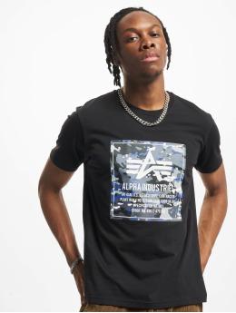 Alpha Industries T-Shirt Camo Block T noir