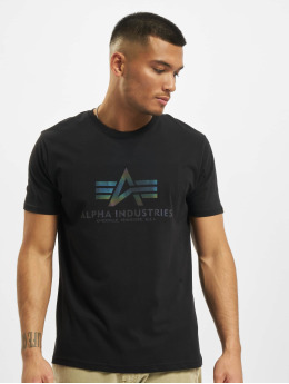 Alpha Industries T-Shirt Basic T Rainbow Reflective noir