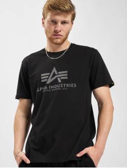 Alpha Industries T-Shirt Basic Reflective Prin schwarz