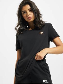 Alpha Industries T-Shirt Basic T Small Logo Foil Print schwarz