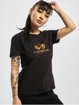 Alpha Industries T-Shirt New Basic Hol. Print schwarz