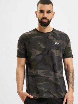 Alpha Industries T-Shirt Backprint Camo schwarz