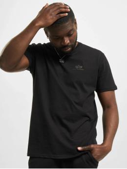 Alpha Industries T-Shirt Basic  Small Logo Rainbow Ref. schwarz