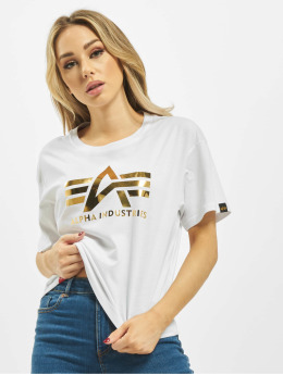 Alpha Industries T-Shirt Industries Big A T Wmn weiß