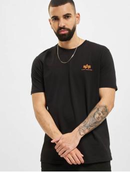 Alpha Industries t-shirt Backprint  Reflective Print zwart