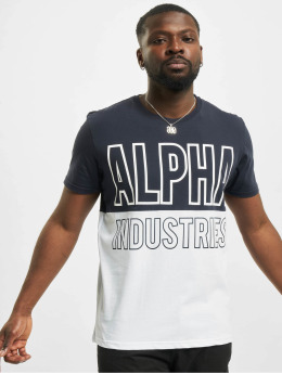 Alpha Industries T-shirts Block blå