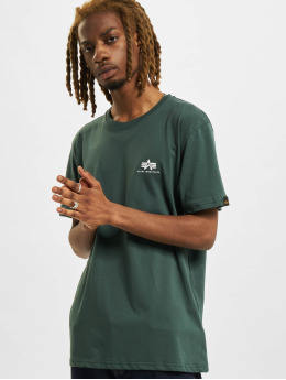 Alpha Industries T-shirts Basic Small Logo grøn