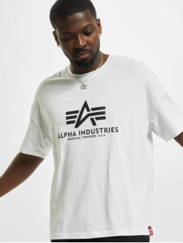 Alpha Industries T-shirts Basic OS Heavy  hvid