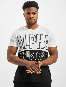 Alpha Industries T-Shirty Block  bialy