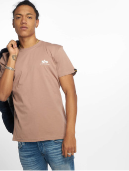 Alpha Industries T-Shirty Basic Small Logo brazowy