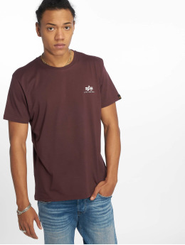 Alpha Industries T-Shirty Basic Small czerwony