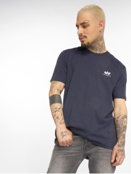 Alpha Industries T-Shirty Basic Small Logo niebieski