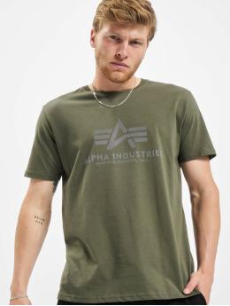 Alpha Industries T-Shirty Basic Reflective oliwkowy