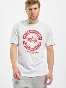 Alpha Industries T-skjorter TTP T hvit