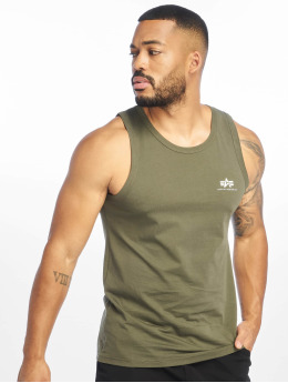 Alpha Industries Tank Tops Small Logo оливковый