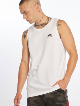 Alpha Industries Tank Tops Small Logo hvit