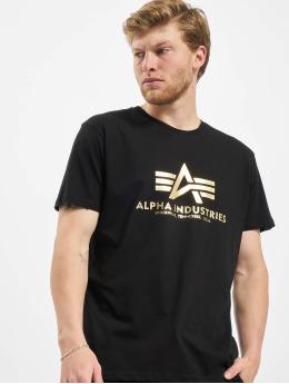 Alpha Industries Tričká Basic Foil Print èierna
