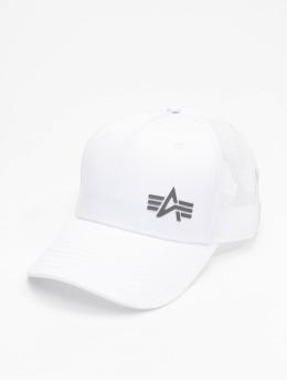 Alpha Industries Trucker Cap Small Logo bianco