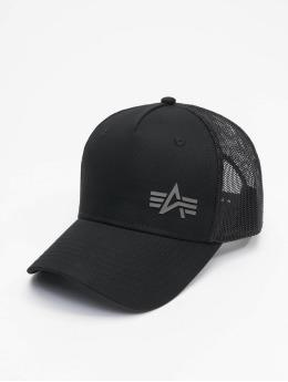Alpha Industries Trucker Caps Small Logo czarny