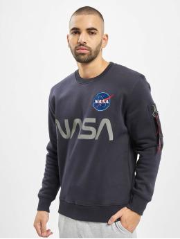 Alpha Industries trui NASA Reflective blauw